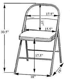 Folding Chair Cover Sizing Chart