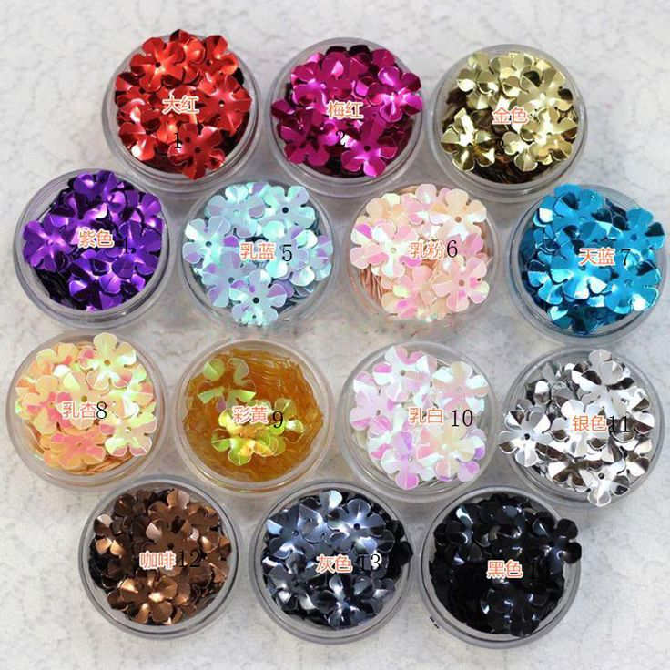 310Pcs/lot Flower Laser PVC Loose Sequins Glitter Paillettes For Nail Art Sewing Wedding Decoration Sewing Scrapbooking