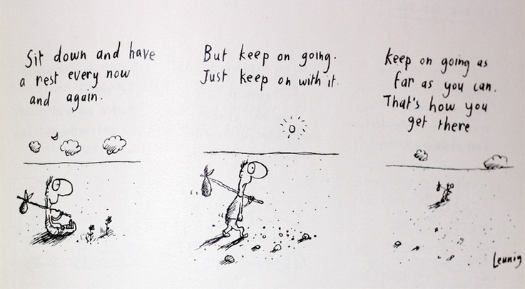Part 2 of How To Get There by Michael Leunig