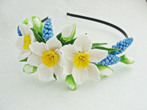 Spring Sale Daffodil Flower Crown Daffodil от FlowerFromEugene
