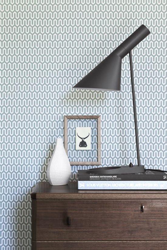 Papel pintado estampado geometrico vintage.