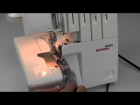 Bernina 800DL Serger 37 Piping with the Multipurpose Foot - YouTube