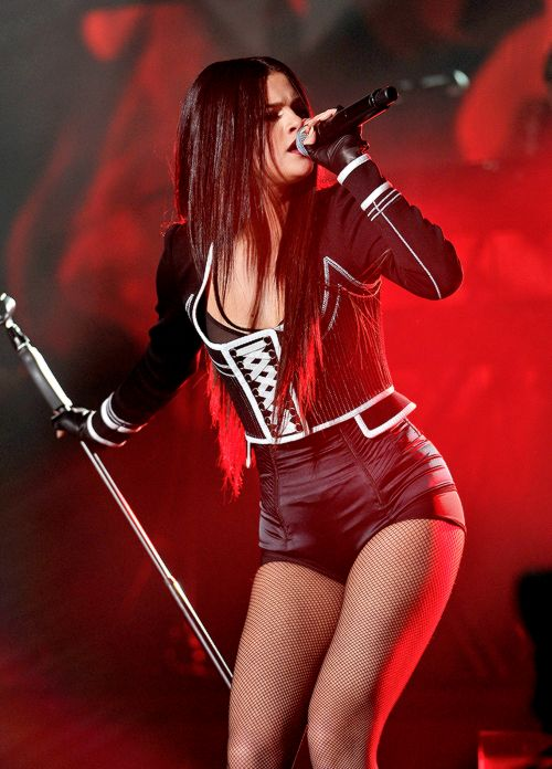 Selena Gomez performing at WiLD 94.9's FM's Jingle Ball 2015, December 3rd