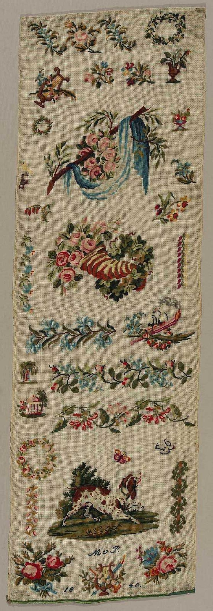 A Stunning German 19th Century Sampler Dated 1840