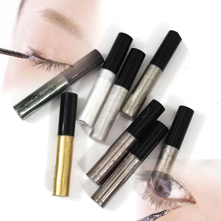 Imperméable à l'eau 8 couleurs Eyeliner Liquide Maquillage Beauté Comestics Eye Liner glitter shimmer brillant Haute Qualité
