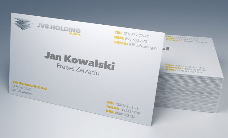 JVB Holding Business Cards - project #1