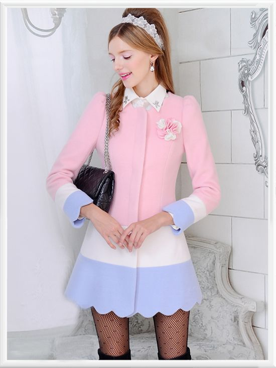 Morpheus Boutique  - Pink Color Block Hem Button Down Wool Long Sleeve Coat, $189.99 (http://www.morpheusboutique.com/pink-color-block-hem-button-down-wool-long-sleeve-coat/)