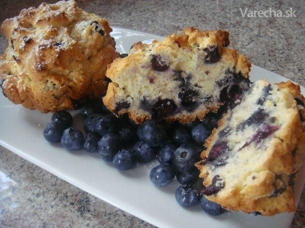 Čucoriedkové muffiny - Simple blueberry muffins (fotorecept)