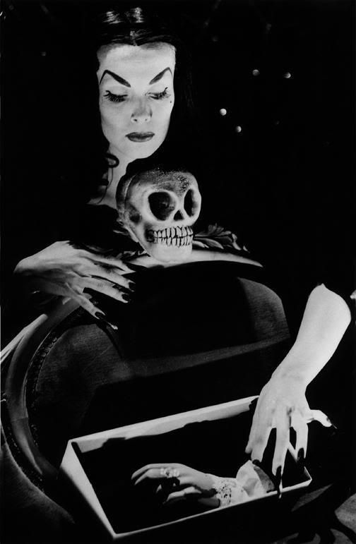Maila Nurmi (December 11, 1922 – January 10, 2008) was a Finnish-American actress who created the campy 1950s character Vampira. She portrayed Vampira as TV's first horror host and in the Ed Wood cult film Plan 9 from Outer Space. She is also billed as Vampira in the 1959 movie The Beat Generation where she plays a beatnik poet. (please follow minkshmink on pinterest)
