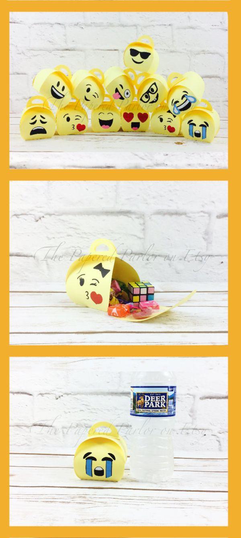 Emoji Party Bags/Emoji Party/Emoji Party Box/Emoji Goodie Bags/Emoji Thank You Bags/Emoji Goody Bags/Emoji Birthday Party/Emoji Theme/Emoji #affiliate