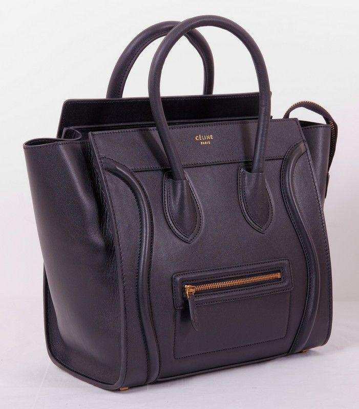 Сумка CELINE (Селин) Boston bag из натуральной кожи черная. Размер 30x30x18cm #19667