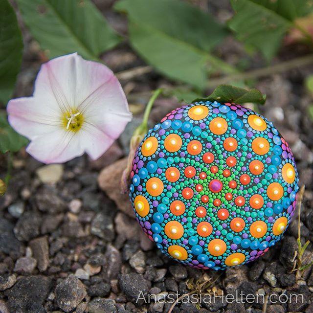 My new swirly pattern ️. ️. #mandalastones #mandala #mandalas #mandalaart #mandalaartist #paintedrocks