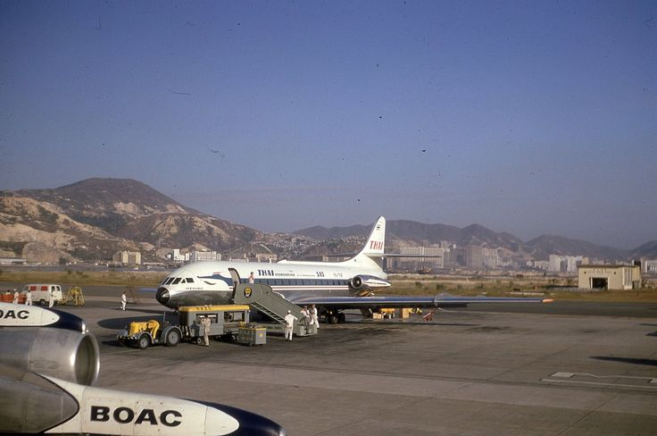 Thai Caravelle at Kai Tak in the 60s