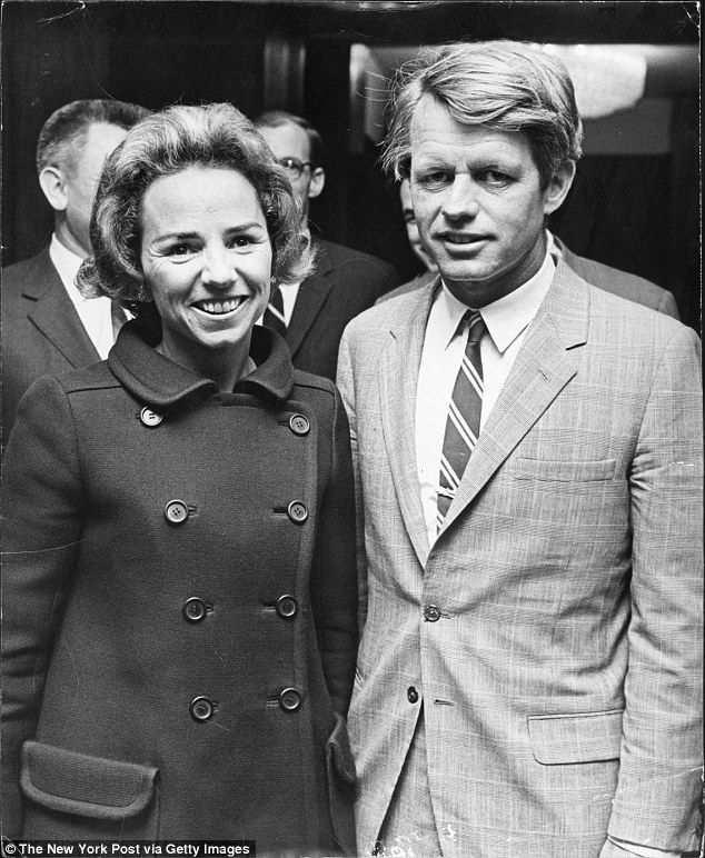 RFK, pictured with Ethel at their home in 1968, married Ethel in 1950 when she…