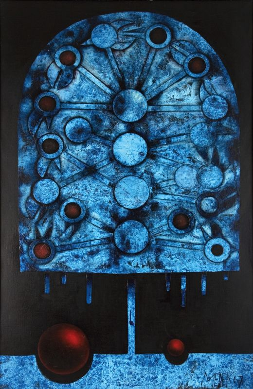 Mikuláš Medek  1926-1974  Modrý křik  1967