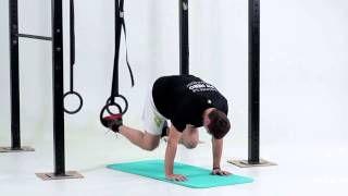 Vystieranie nohy v podpore s nohou na kruhoch