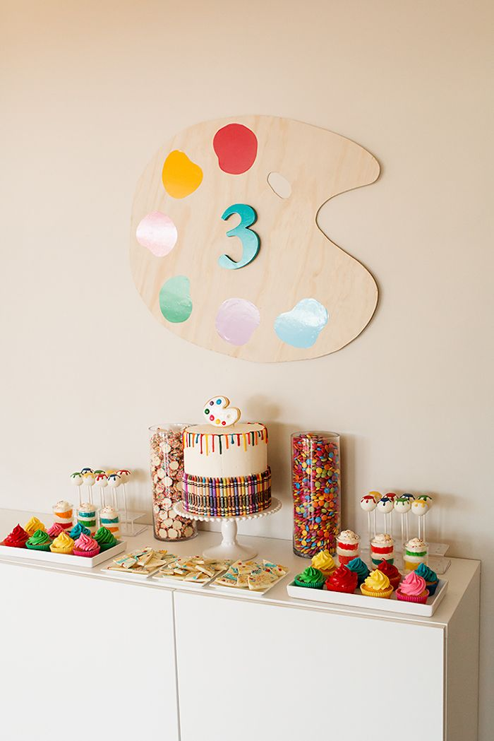 Colorful Art Birthday Party on Kara's Party Ideas   KarasPartyIdeas.com (24)