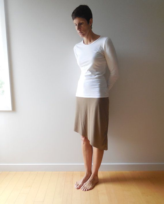 Cocoa Brown T Shirt Skirt / Asymmetrical / Recycled / by ohzie