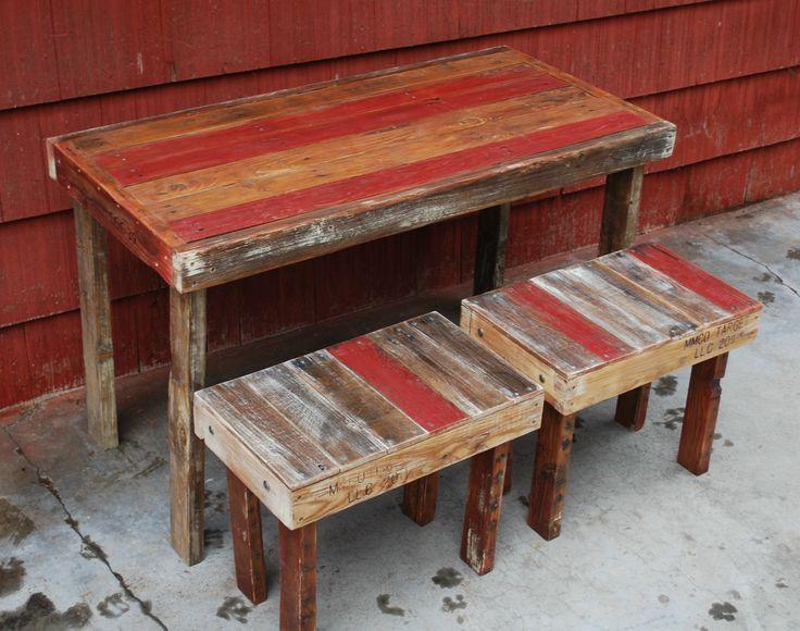 Sedie pallet ~ Best pallet dining table images pallet wood