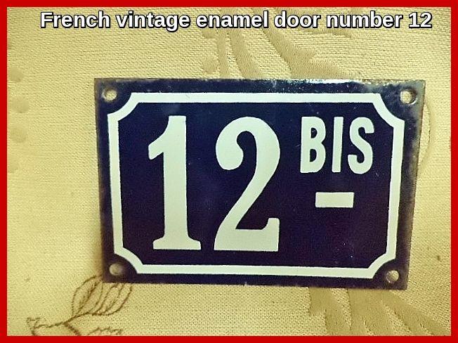 French Enamel Door Numbers