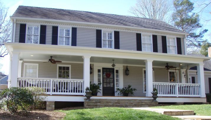 before and after adding a front porch to house - Google Search