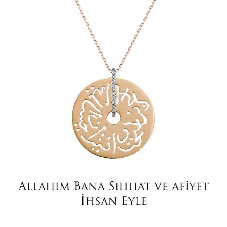 Ramazan ayında tüm dualarımız sevdiklerimiz için... Altın Seb'a Kolye - Allah'ım bana sıhhat ve afiyet ihsan eyle!