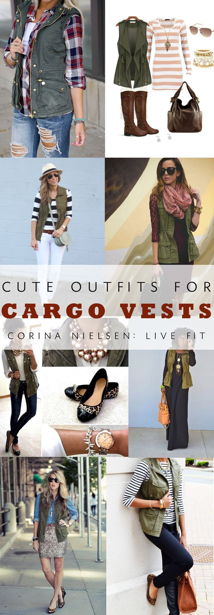 Favorite Cargo Vest Outfits for Fall & Winter