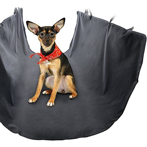 Premium Dog Seat Covers For Cars By Ess & Craft - Perfect For Dogs & Cats - Adjustable Standard / Hammock Design - Compact & Foldable - Universal Fit Design - Black