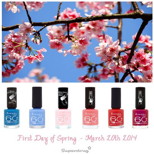 41 best 60 seconds images on pinterest enamel nail art and fashion first day of spring march get your spring nails inspiration at superdrug now check out our rimmel london nails prinsesfo Image collections