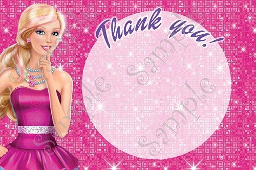 Barbie Birthday Party Invitation, FREE thank you card ...