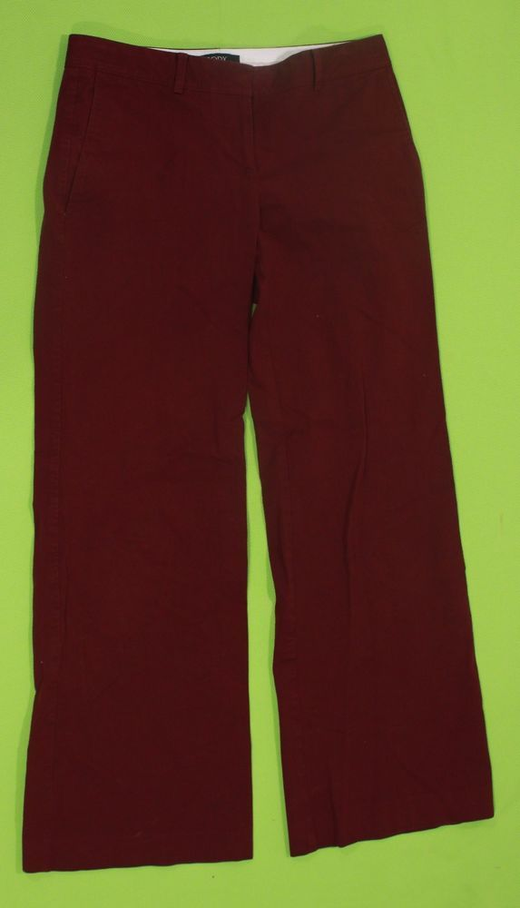 Body by Victoria Pants Sz 4 Red Trousers Women Stretch Dress Casual #BodybyVictoria #Pants