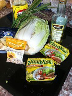 Rezeptblock: Asiatischer Nudelsalat / YamYam-Salat