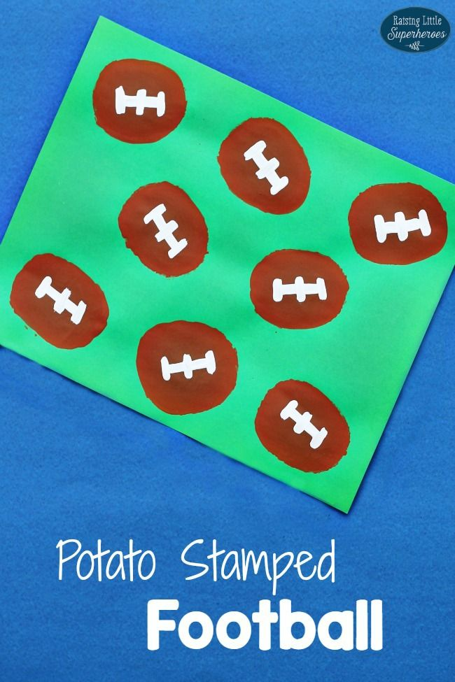 Use a potato to create this Potato Stamped Football craft and get ready for some football!