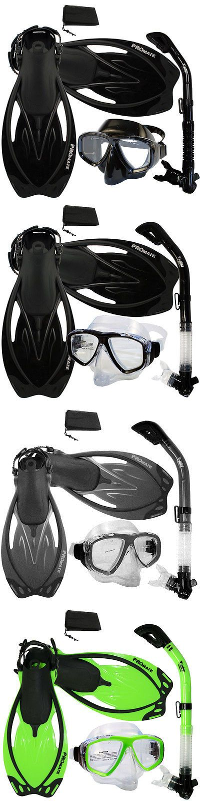 Snorkels and Sets 71162: Snorkeling Purge Mask, Dry Snorkel, Fins, Bag Dive Gear Gift Package Set BUY IT NOW ONLY: $49.95