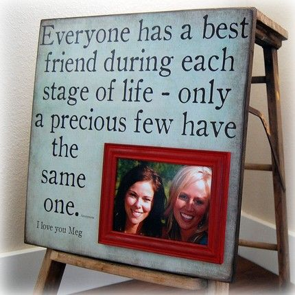 Everyone has a bestfriend during each stage of life - only precious few have the same one...