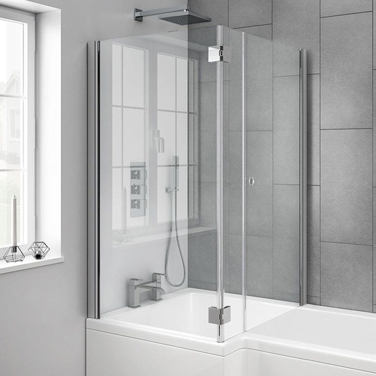 Shop the stylish Milan hinged bath screen with joining magnets. Features 6mm toughened safety glass. Get it online at Victorian Plumbing now.