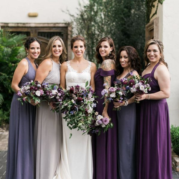 Gorgeous Jewel Toned Bridesmaids Complemented By Some