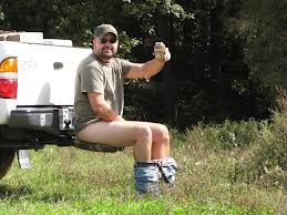 truck hitch toilet (shit hitch). I do believe I have been camping with a few men that's would find this very useful!