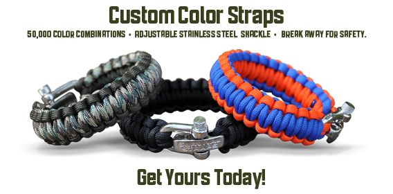 Survival Straps. Awesome products and awesome company, a proud supporter of the Wounded Warrior Project. Check 'em out!