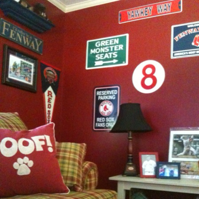 96 best man cave ideas images on pinterest beer fridge for Boston red sox bedroom ideas