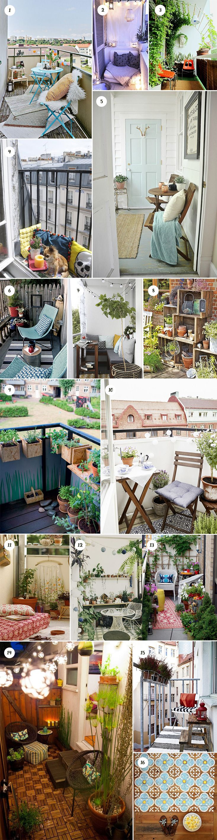 85 best studio petit appartement images on pinterest - Decoration petit balcon ...