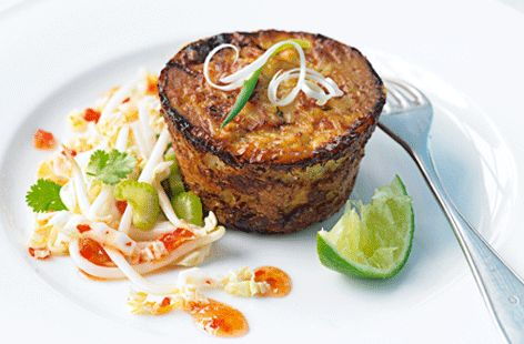 Baked Thai crab cakes
