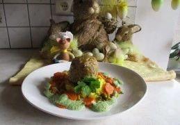 Vogelnestje op zijn paasbest is een lekker recept, Met simpele ingrediënten toch een feestlijk bordje.