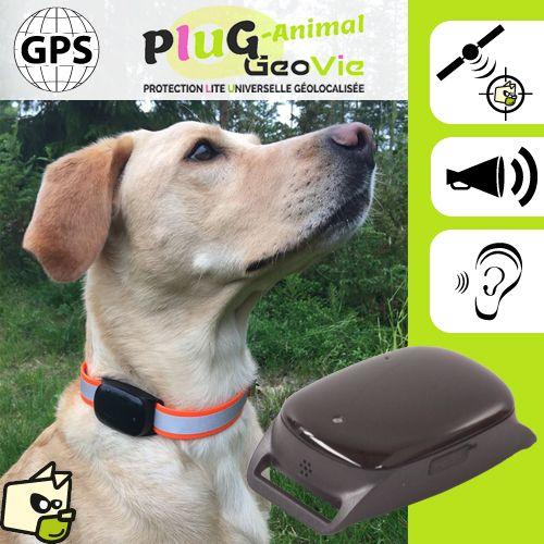 Balise GPS localisation PluG-Animal pour collier de chien