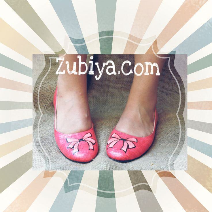 Hand painted ballerina , now handpainted on top, shop at www.zubiya.com