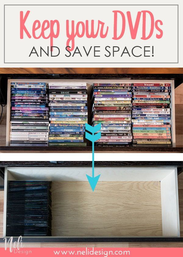 The Best Dvd Organization Solution To Save Space Nelidesign