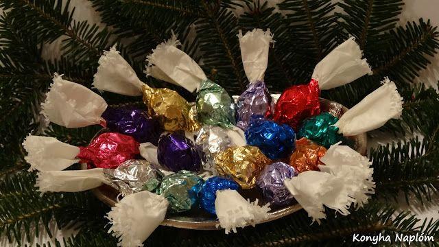 Konyha Naplóm: Töltött csokoládé golyók