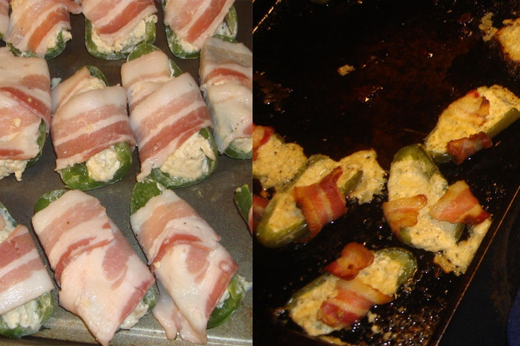 Bacon wrapped cream cheese jalapeno bites | Domesticult | Pinterest ...