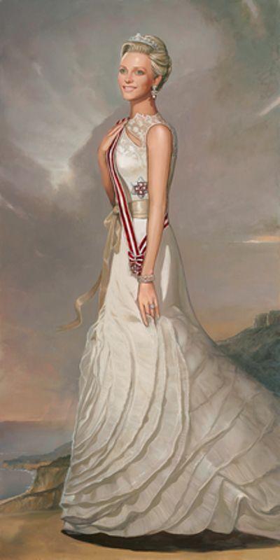 Top: Princess Charlene, Albert's II wife  Bottom: Princess Grace, Albert's II mother