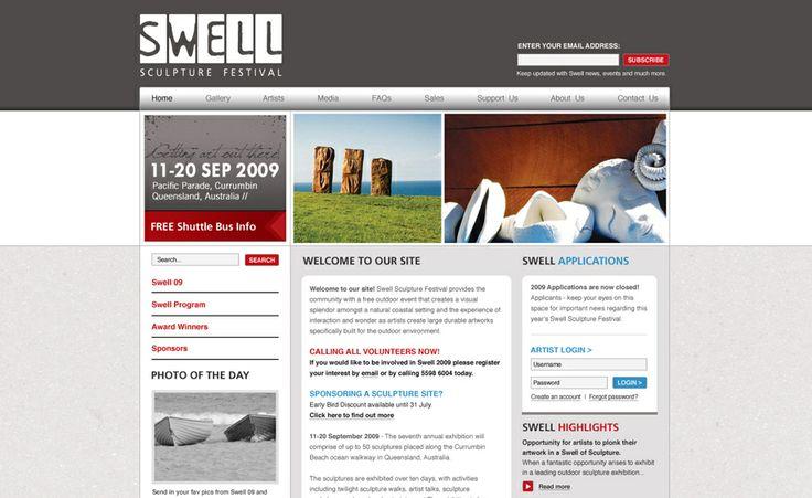 Website design for Swell Sculpture Festival. #websitedesign #webdesign #web #design #graphicdesign #website #websites